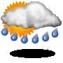 Nuboso con lluvia